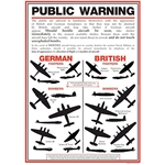 WWII Aircraft Identification Poster