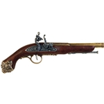 18th Century French Flintlock Pistol Brass - Non-Firing FD1077L