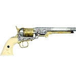 Classic M1851 Navy Revolver Gold - Nickel Non Firing 24-221503