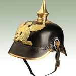German Baden Infantry Helmet - WWI Leather Repro 720010