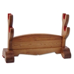 Hanwei Natural Wood Double Samurai Sword Stand by Paul Chen