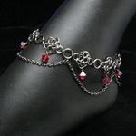 Jet Black Chainmail Anklet 37-4034