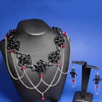 Black Chainmalle Necklace and Earring Set