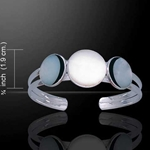 Full Moon Phase Silver Cuff 52-TBG695