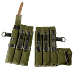 German MP40 Canvas Pouch Set Green - WWII Repro