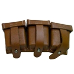 German WWII 98K Triple Ammo Pouch Brown Repro 803120