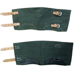 German WWII Gamaschen - Gaiters - Green Canvas Repros