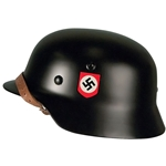 German WWII M40 Helmet Black SS Reproduction 3 Sizes