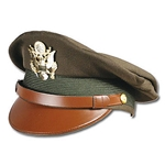 U.S. Army Officer's Visor Cap - Olive Collector's Grade WWII
