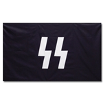 German WWII Black SS Flag Repro 3' X 5'