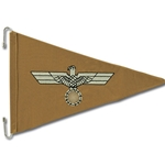 German WWII Army DAK Car Pennant
