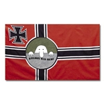 German WWII Battle Flag with Iron Cross