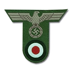 German Army Bevo Cap Eagle and Cockade EM Enlisted - WWII