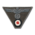 German Army Embroidered Cap Eagle and Cockade Trapezoid EM Enlisted
