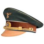 German Adolf Hilter Visor Cap - Field Grey - Museum Grade