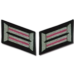 German Army Bullion Collar Tabs - Officer - Panzer