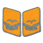 German Luftwaffe Bullion Collar Tabs - Officer - Leutnant
