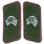 German Panzer Collar Tabs - Aluminum Skull - Assault Gunner