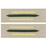 German Army Bevo Collar Tabs - EM Enlisted - Signal Yellow