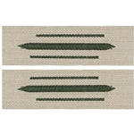 German Army Bevo Collar Tabs - EM Enlisted - Generic Green
