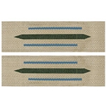 German Army Bevo Collar Tabs - EM Enlisted - Transportation