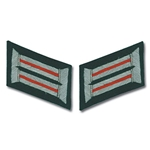 German Army Bullion Collar Tabs - Officer - Artillery - Red