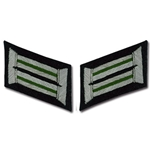 German Army Bullion Collar Tabs - Officer - Panzer Grenadier