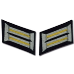German Army Officer Collar Tabs - Cavalry - Yellow