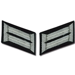 German Army Bullion Collar Tabs - Officer - Infantry - White