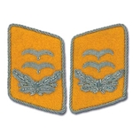 German Luftwaffe Bullion Collar Tabs - Officer - Oberleutnant