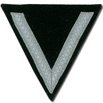 German SS Rank Chevron Black - Silver Tresse - Sturmmann