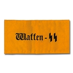 German Waffen SS Armband - WWII Repro - Cotton - Yellow