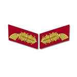 German Army General Bullion Collar Tabs
