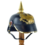Leather Picklehaube Helmet