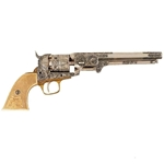 Colt 1851 Revolver Engraved Model Nickel Non-Firing FD1040B