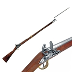 British Brown Bess Musket W/ Bayonet Colonial Period - Non-Firing FD1054