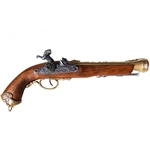 18th Century Pirate Pistol - Italian - Non-Firing Replica,18th Century Pirate Pistol - Brass - Non-Firing Replica