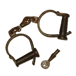 Antiqued Prison Handcuffs ONC70A