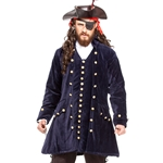 Navy Velvet Pirate's Coat
