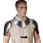 Gorget with Spaulders - Neck Shoulder Armor Steel SD-100
