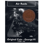 George VI Air Raids Bronze Half Penny - Real British WWII Coin