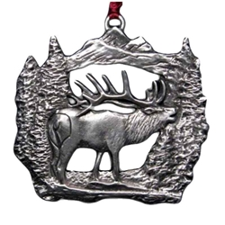 Bugling Elk Christmas Ornament 119.0362