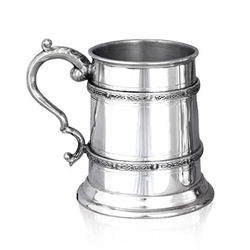 Double Celtic Band Half Pint Pewter Tankard