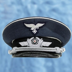 WWII Gear - German WWII Luftwaffe Officer's Cap Reproduction