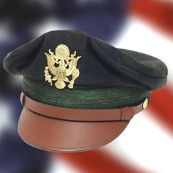 US WWII Army Officer's Crush Cap Green Repro