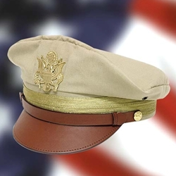 WWII U.S. Army Officer Crush Cap Khaki