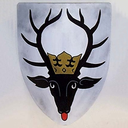 Crowned Stag Steel Heater Shield