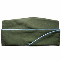 U.S. WWII Infantry Garrison Cap - Enlisted - Blue Piping