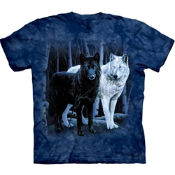 Black and White Wolves Adult 3X-Large T-Shirt 43-1011060