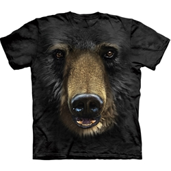 Black Bear Face Adult T-Shirt 43-1032450